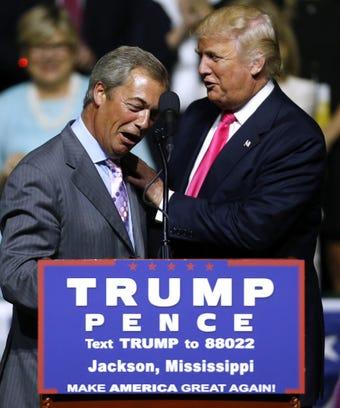 Nigel Farage Donald Trump Rally