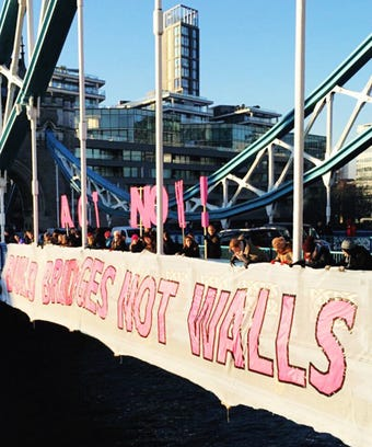 Build Bridges Not Walls - Donald Trump Protest London