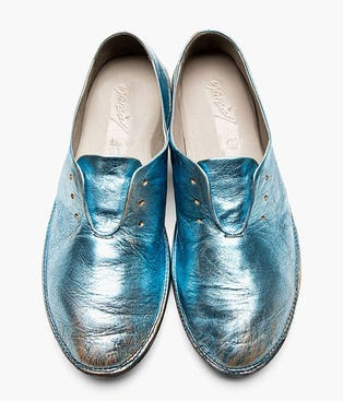 MARSeLL-__-PALE-BLUE-METALLIC-DISTRESSED-LEATHER-SHOES,-$670