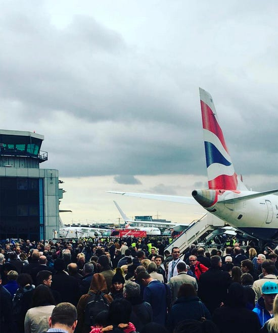London City Airport Evacuation Man Arrested Terror Laws