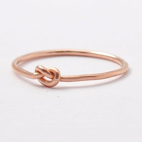 blue ridge notions knot promise ring 82 available at etsy - Where To Buy Wedding Rings