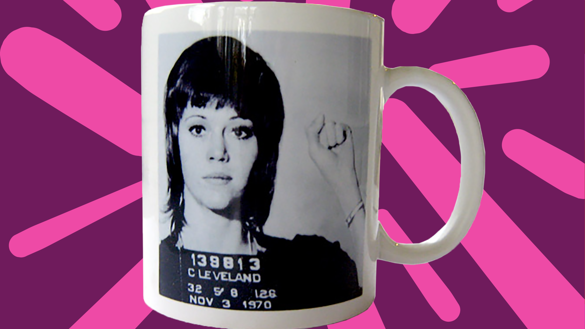 jane fonda merchandise uses mug shot from  arrest -