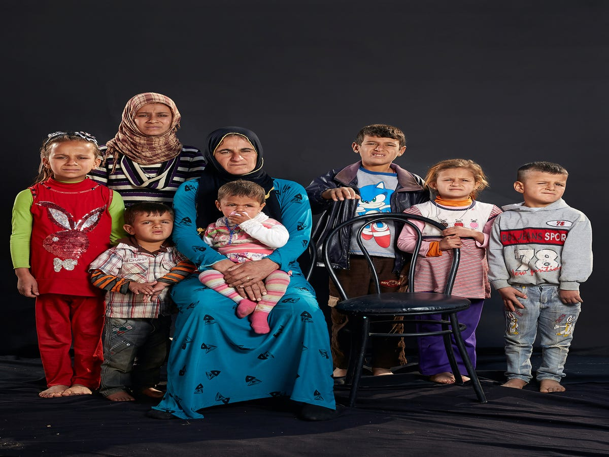 For Syrian Refugees In These Portraits, An Empty Space For Every Loved One Lost