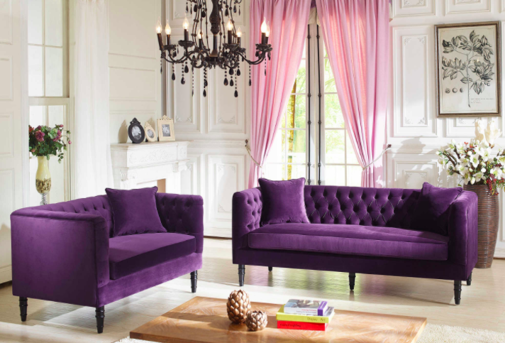 Living Room Violet Color tips for using pantone's color of the year (ultra violet) in your