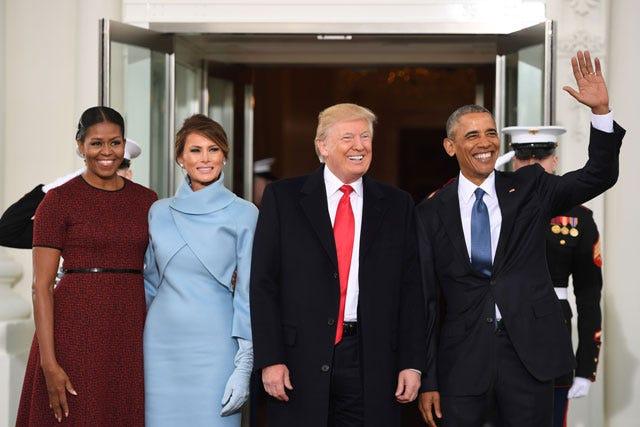 Michelle Obama Reaction Melania Trump Inauguration