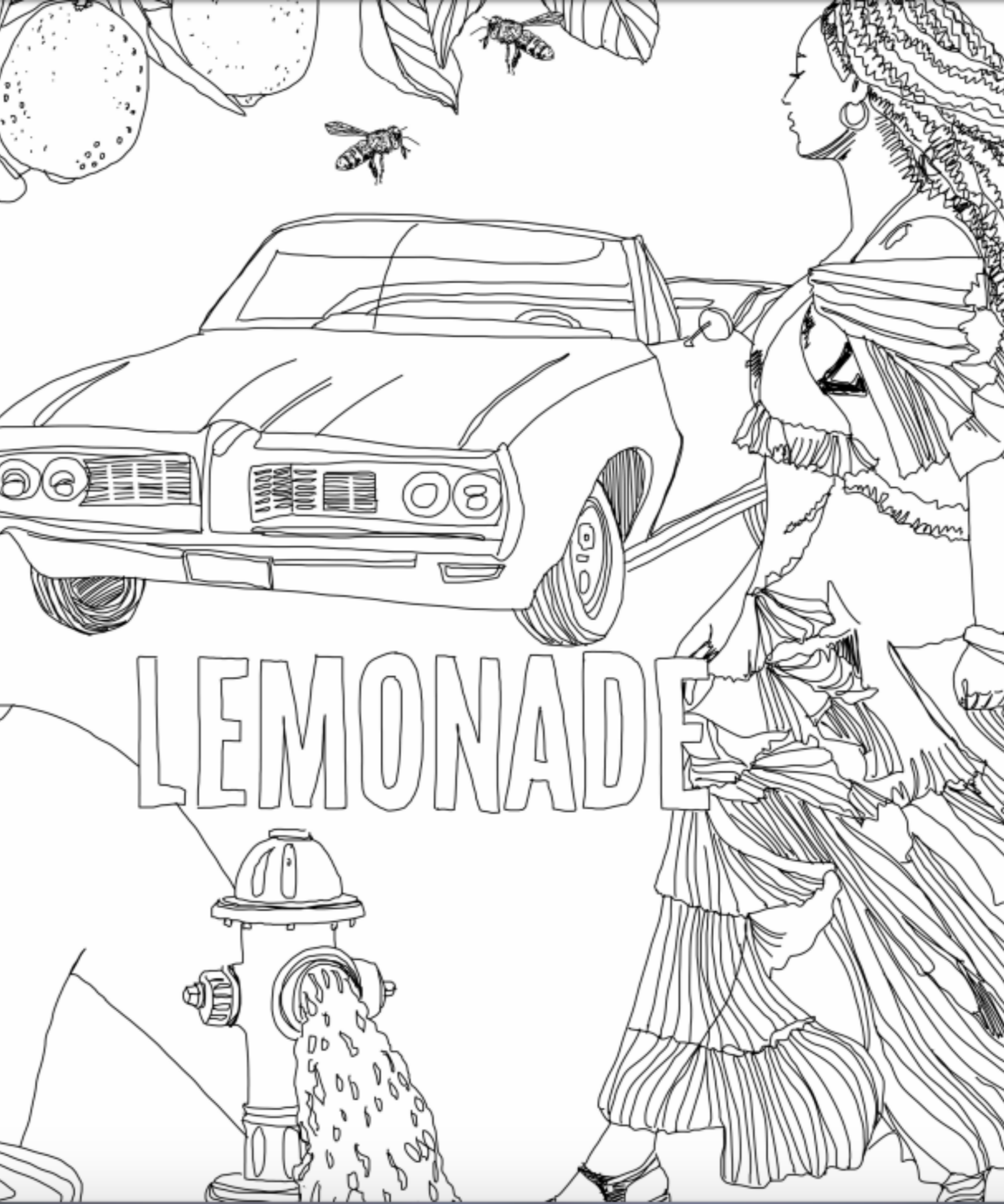 beyonce lemonade coloring book