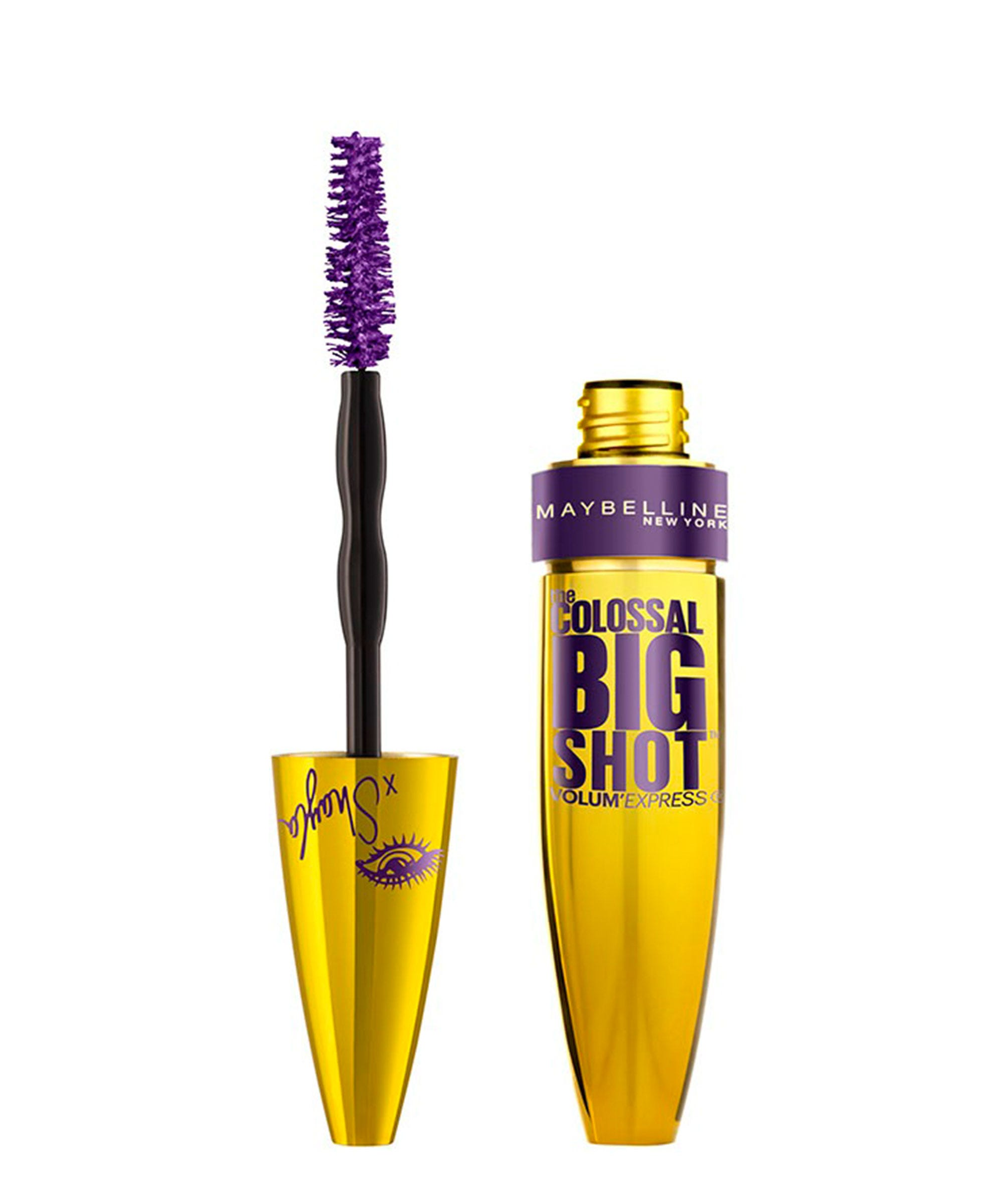 fd378ab4d90 Continuing with the purple theme, Mitchell created a violet version of her  beloved The Colossal Big Shot Mascara.