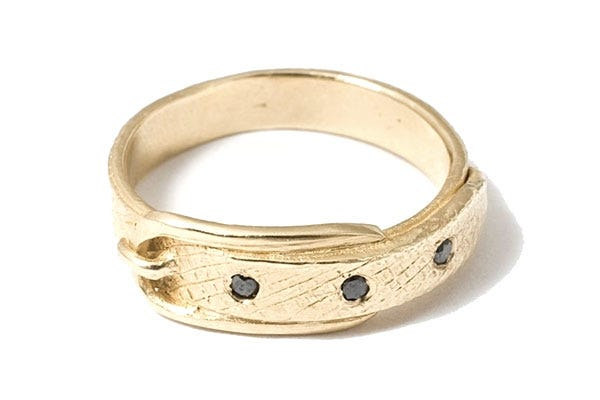 yayoi forest belt ring 760 available at catbird - Alternative Wedding Rings