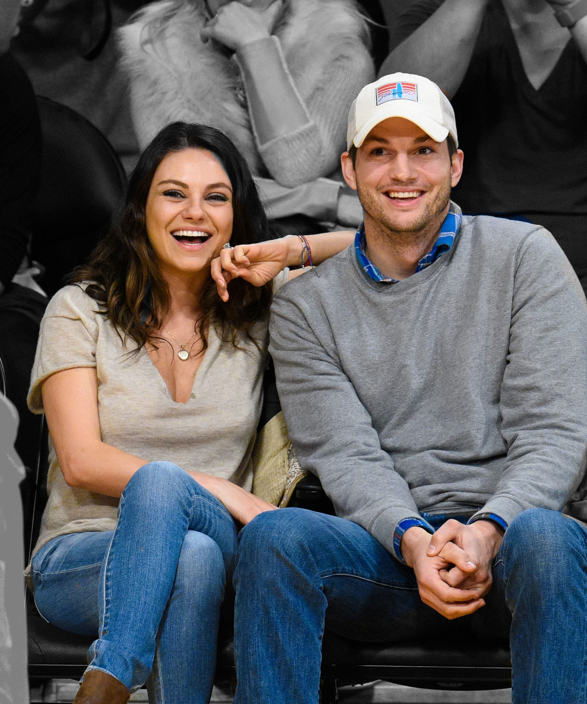 Mila Kunis Ashton Kutcher Cheap Etsy Wedding Bands