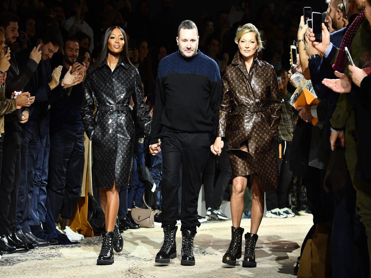 Kate Moss & Naomi Campbell Closed Kim Jones  Last Vuitton Show