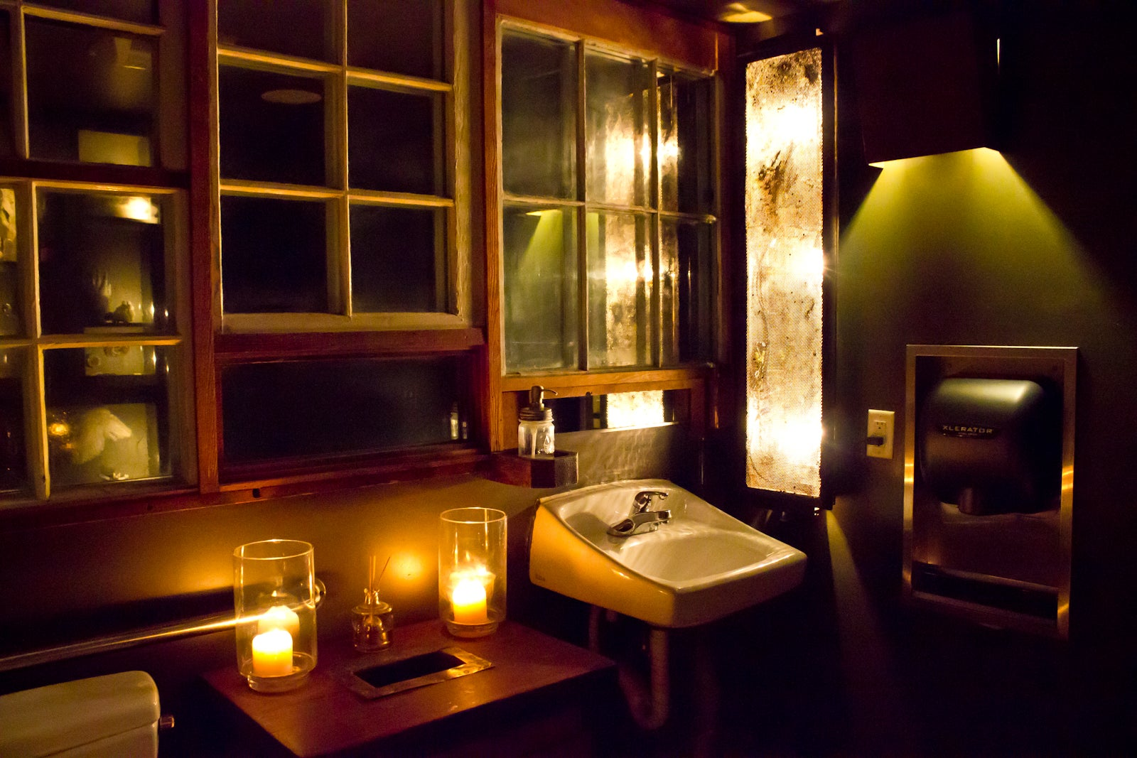 Flour   Water Woodsy accents  soft golden light  and beautiful antiqued mirrors   yep  this restroom is the stuff of dreams  Every surface has been thought. Coolest Bathrooms San Francisco   Best Restaurant Bathrooms San Franci