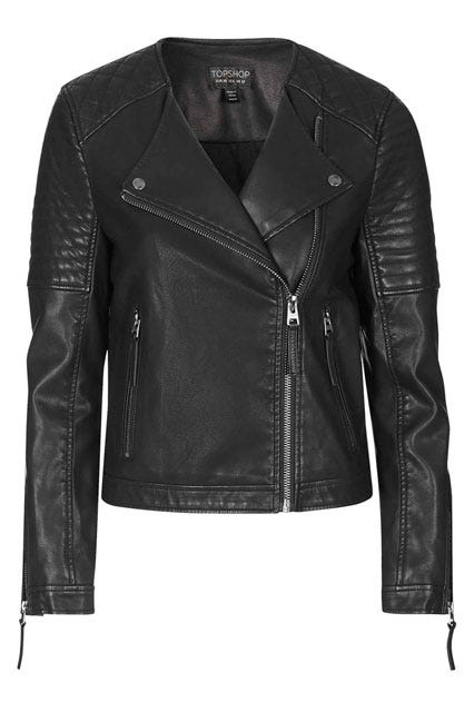 Faux Leather Jacket - Best Fall Jackets For Women