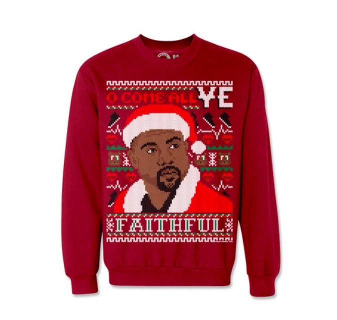 Kim Kardashian Kanye West Holiday Christmas Sweaters