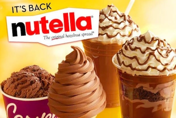 Carvel Has A Nutella Milkshake, What Else Do You Need From Life?