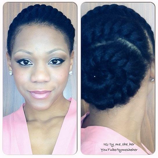 Astonishing Easy Natural Hairstyles For Transitioning Hair Short Hairstyles Gunalazisus