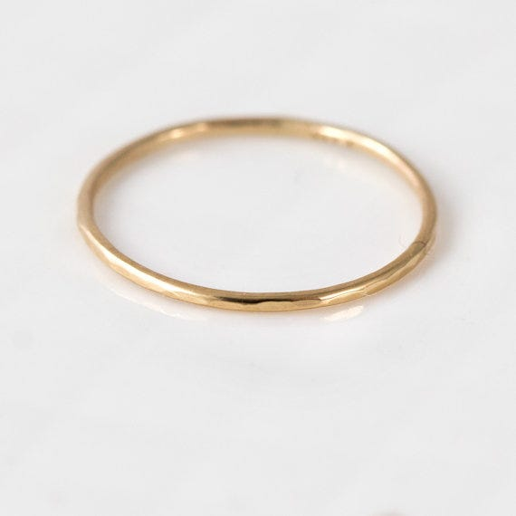 melanie casey jewelry thin 14k gold ring 79 available at etsy - Where To Buy Wedding Rings
