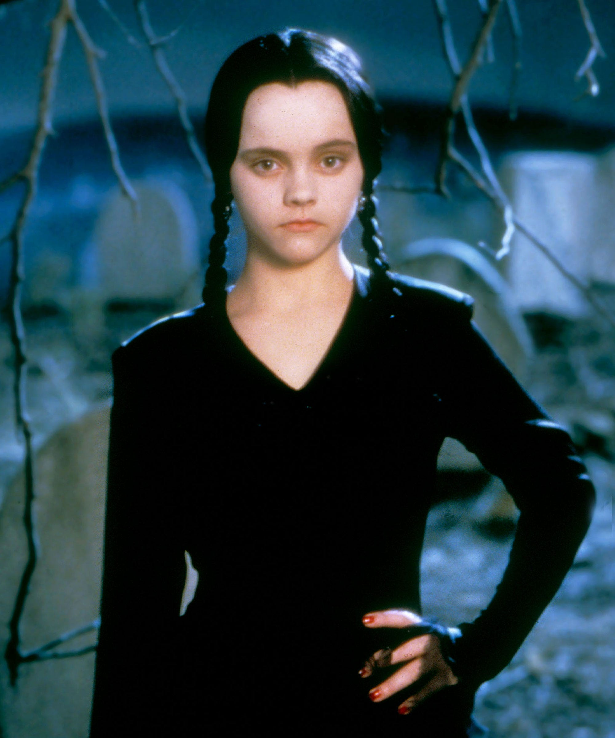 wednesday addams halloween costume wig dress all black - Halloween Costumes Wednesday Addams