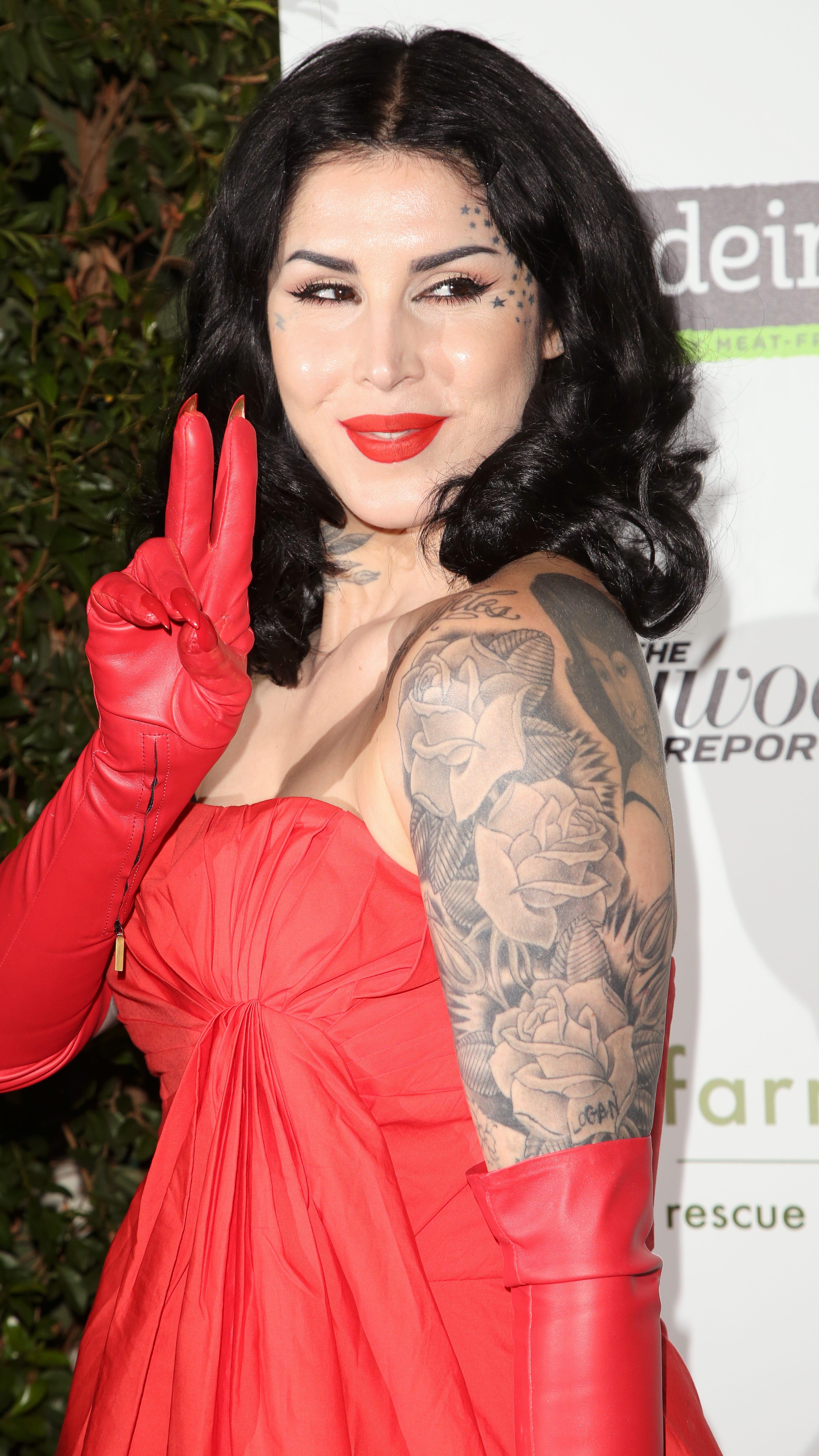 Kat von d red dress 3 months