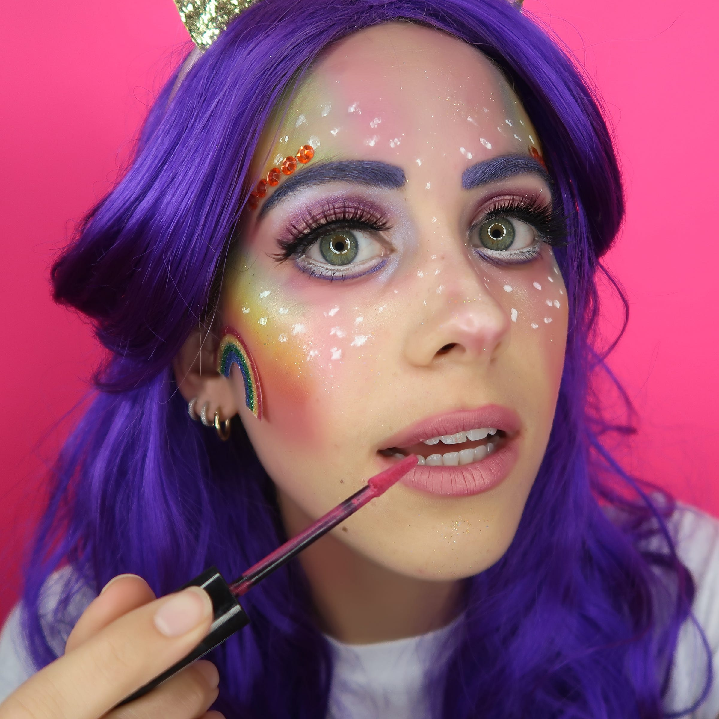 Image result for I Did 5 Days Of The Internet's Most Extra Halloween Makeup — & Here Are The Results