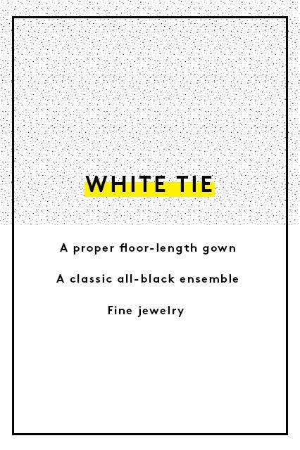 Guide to wedding guest dress attire the invite says white tie stopboris Gallery
