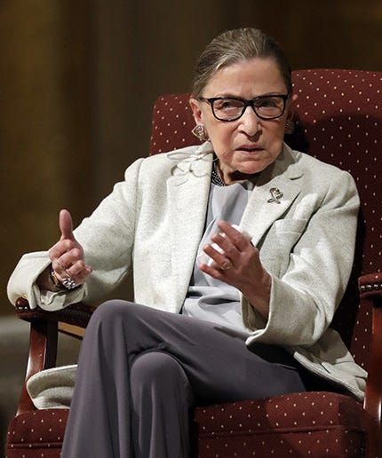 Justice Ruth Bader Ginsburg skips Trump's first speech to Congress