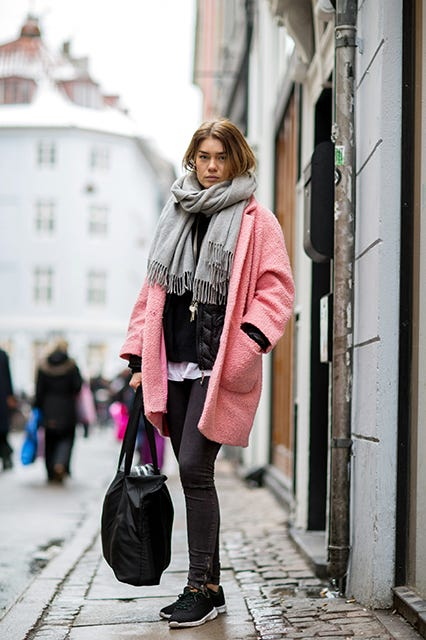 Pink Coat Outfits- How To Wear A Pink Coat