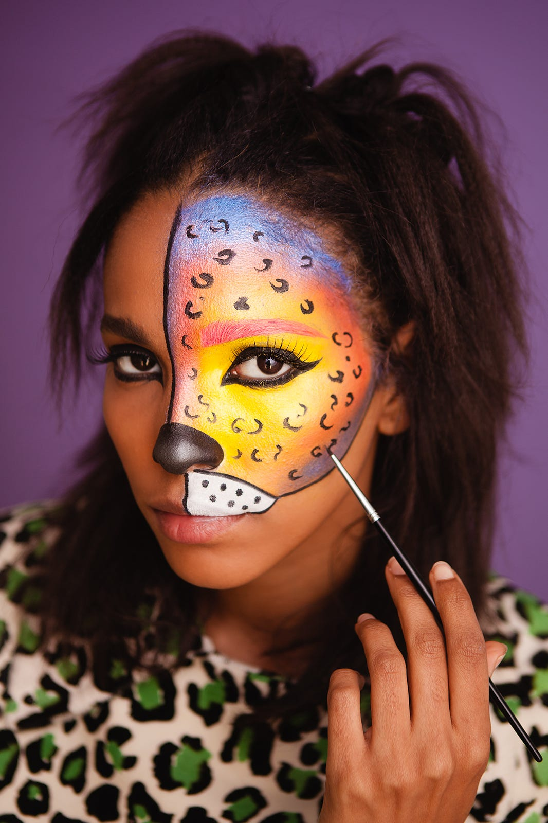DIY Halloween Makeup - Snapchat Dog Filter, Lisa Frank