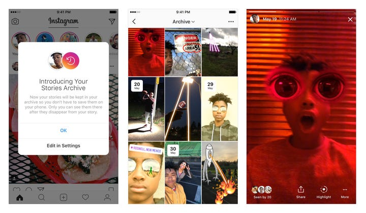 Instagram Archive and Highlights make your Stories permanent