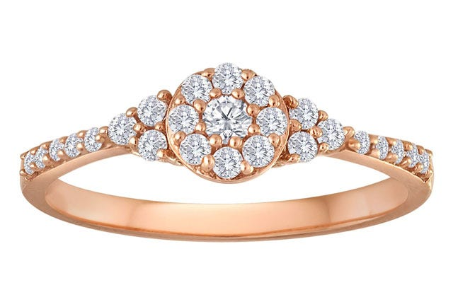 a flower like diamond cluster is forever unlike those roses you got from the corner deli - Jcpenney Wedding Ring Sets