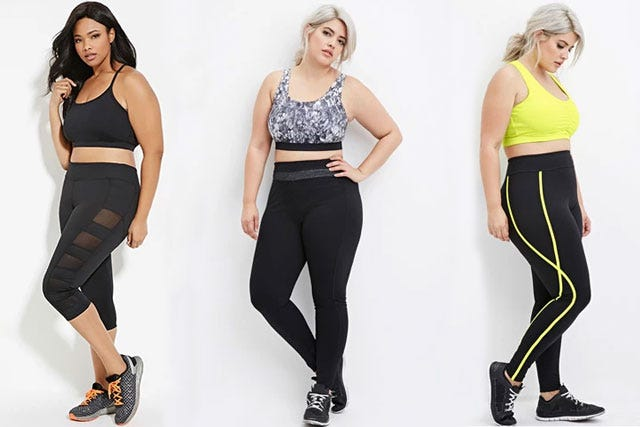Forever 21 plus size activewear fitness clothes photo courtesy of forever21 sciox Images
