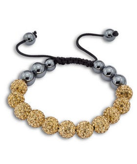 "opener-Ultra Diamonds, ""Crystal Hematite Bracelet"", Ultra Diamonds, $159.00"