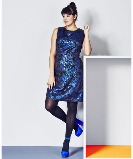 openerSimply-Be-Blue-Jacquard-Dress