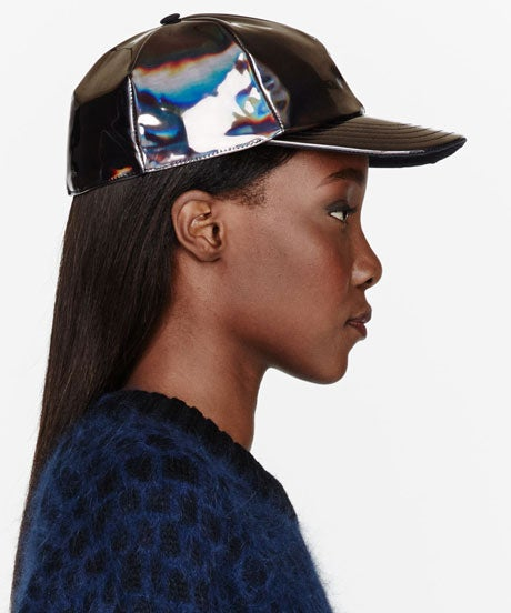 SURFACE-TO-AIR_grey-iridescent-cosmic-cap_$170_Ssense-460