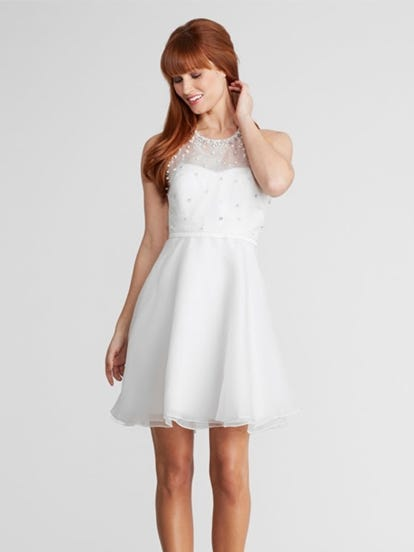 S2 white colour dress
