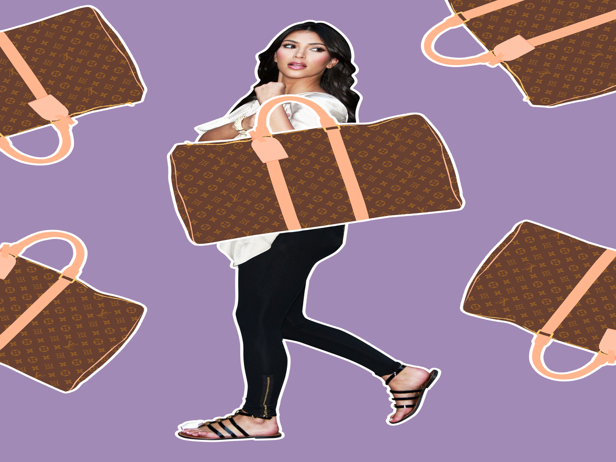 An Illustrated History Of Kim Kardashian & Her Louis Vuitton Bags