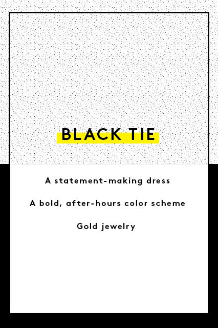 Guide to wedding guest dress attire the invite says black tie or formal stopboris Gallery