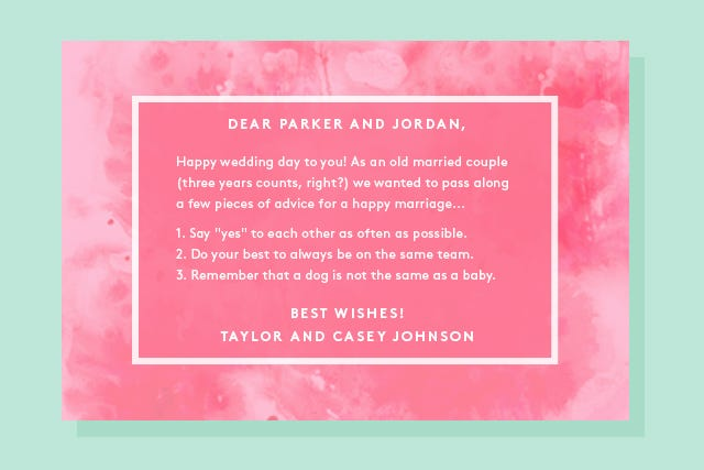 what to write in a wedding card funny