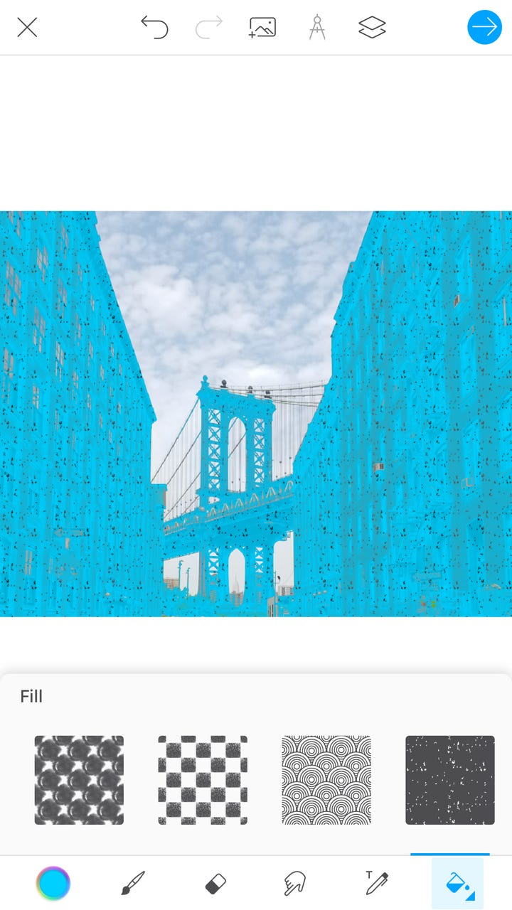 How To Paint Can Fill Section Picsart