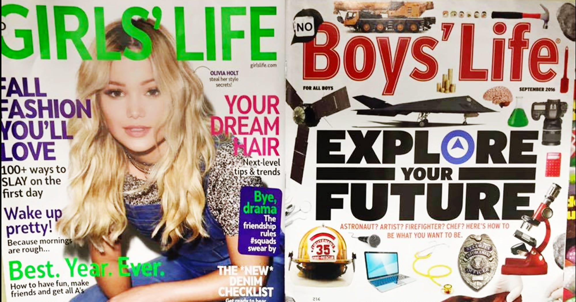 Girls Life Magazine Sexist Cover Facebook Post