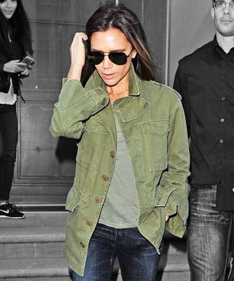 Victoria Beckham Military Jacket Celebrity Style