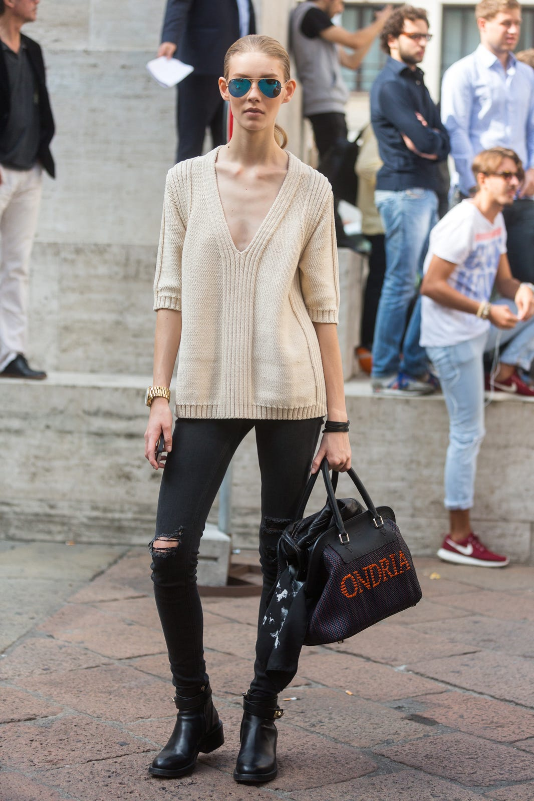 Or instead of dark blue jeans, you could shop for a great-fitting, inky pair of black skinny jeans, which can be styled in your wardrobe just like you'd wear a black pant. While the most sophisticated skinny jean you can buy is a dark, solid-colored pair, that doesn't mean you can't wear colored jeans.