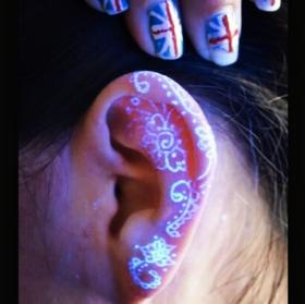 Uv tattoos glow in the dark best photos for Uv tattoo health risks