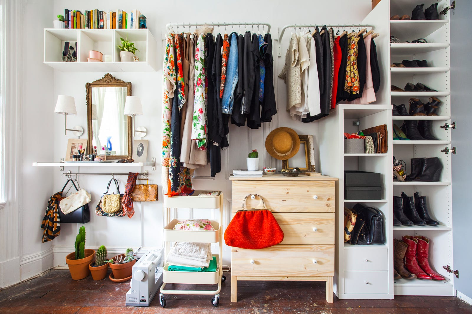 Closet Organization Ideas Clothing Storage Solutions: no closet hanging solutions