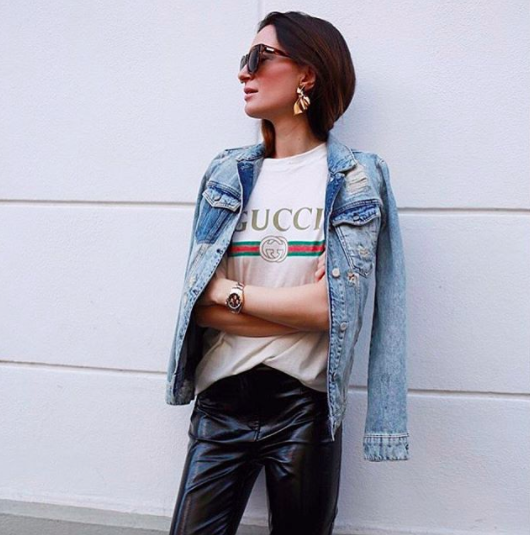 Gucci Logo T-Shirt Instagram Outfit Ideas
