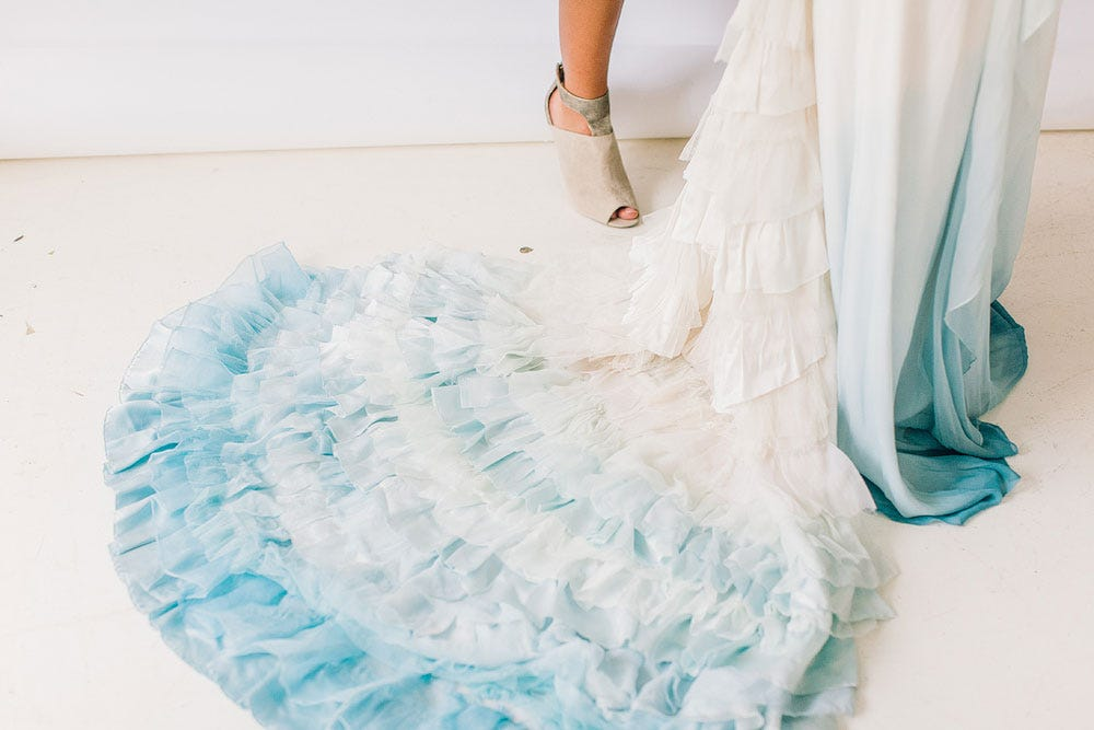 Traci hines the little mermaid wedding photos ariel for Dyeing a wedding dress professionally