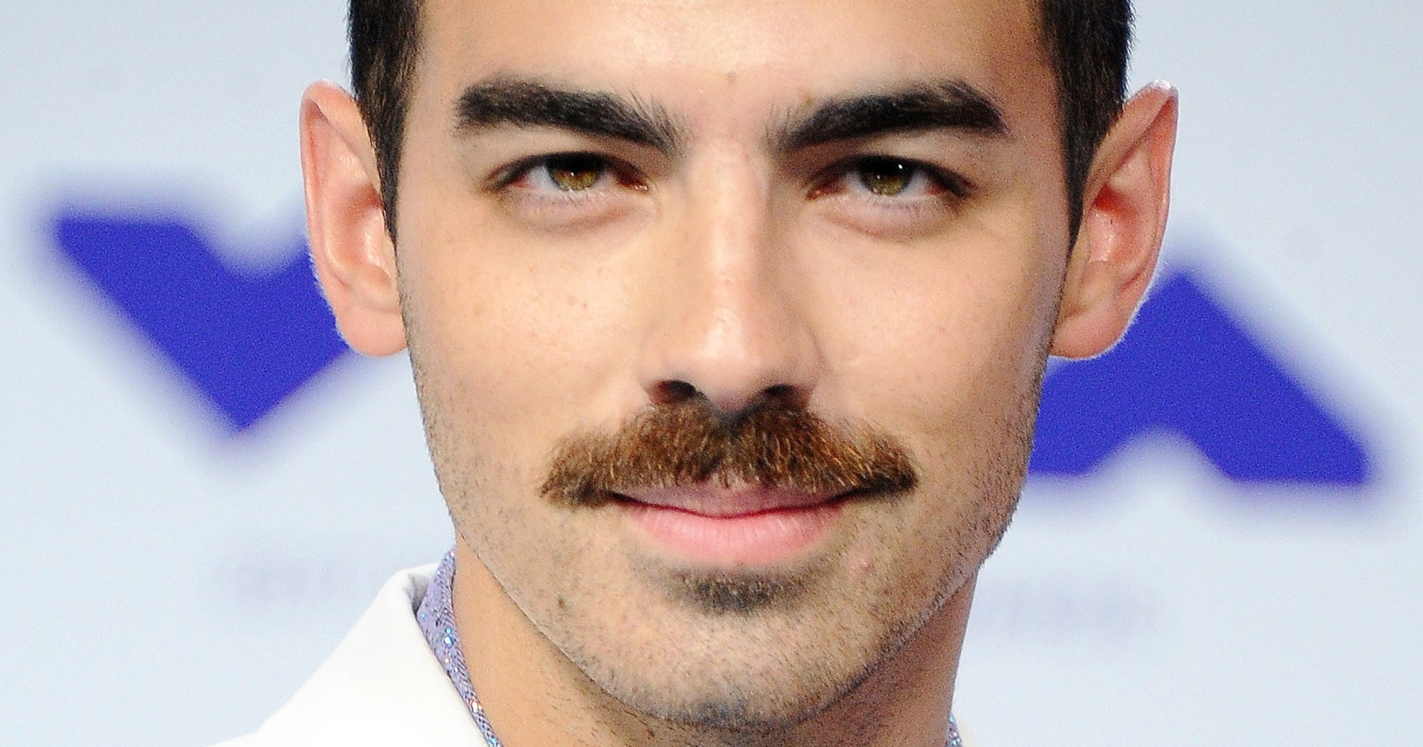 Joe Jonas New Mustache Photos VMA Trend Celebrity Men