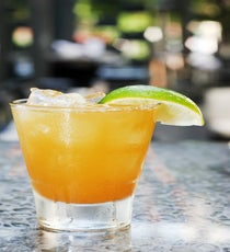 Pumpkinrita: Freestyle Food + Drink Ingredients:  1.5 oz Corzo Reposado tequila 3/4 oz Cointreau 1.5 oz pumpkin purée Juice from 4 lime wedgesSteps:  1. Shake all ingredients with ice and strain into a r