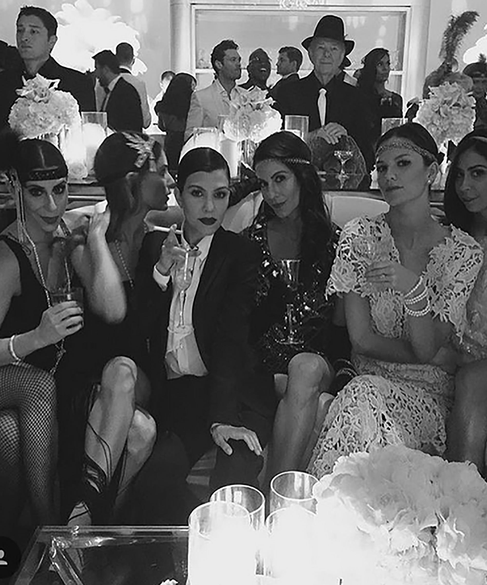 Kris Jenner Great Gatsby 60th Birthday Party Photos