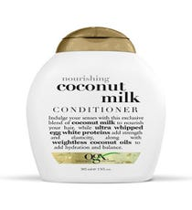 Condition  Next, I condition my hair with Organix Nourishing Coconut Milk Conditioner. If seeing the words nourish