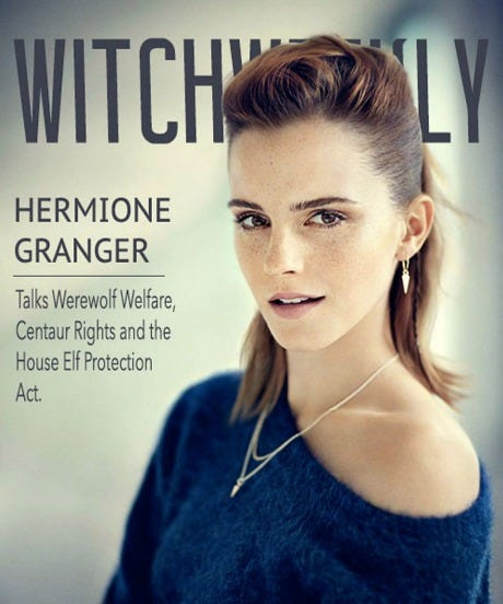 Harry Potter Fan Art Witch Weekly Magazine Cover